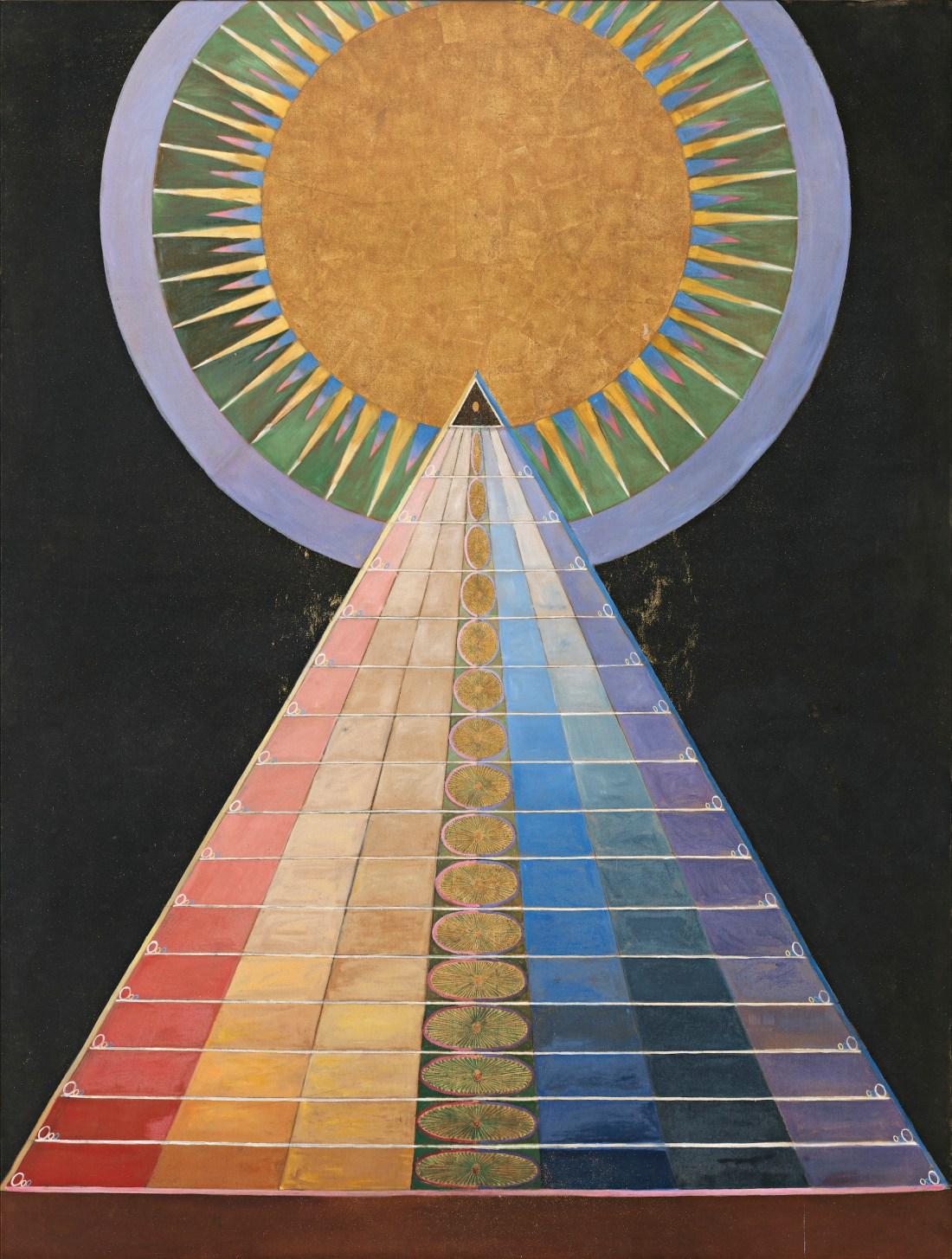 """Group X, No. 1, Altarpiece (Grupp X, nr 1, Altarbild), from """"Altarpieces"""" (Altarbilder).1915"""