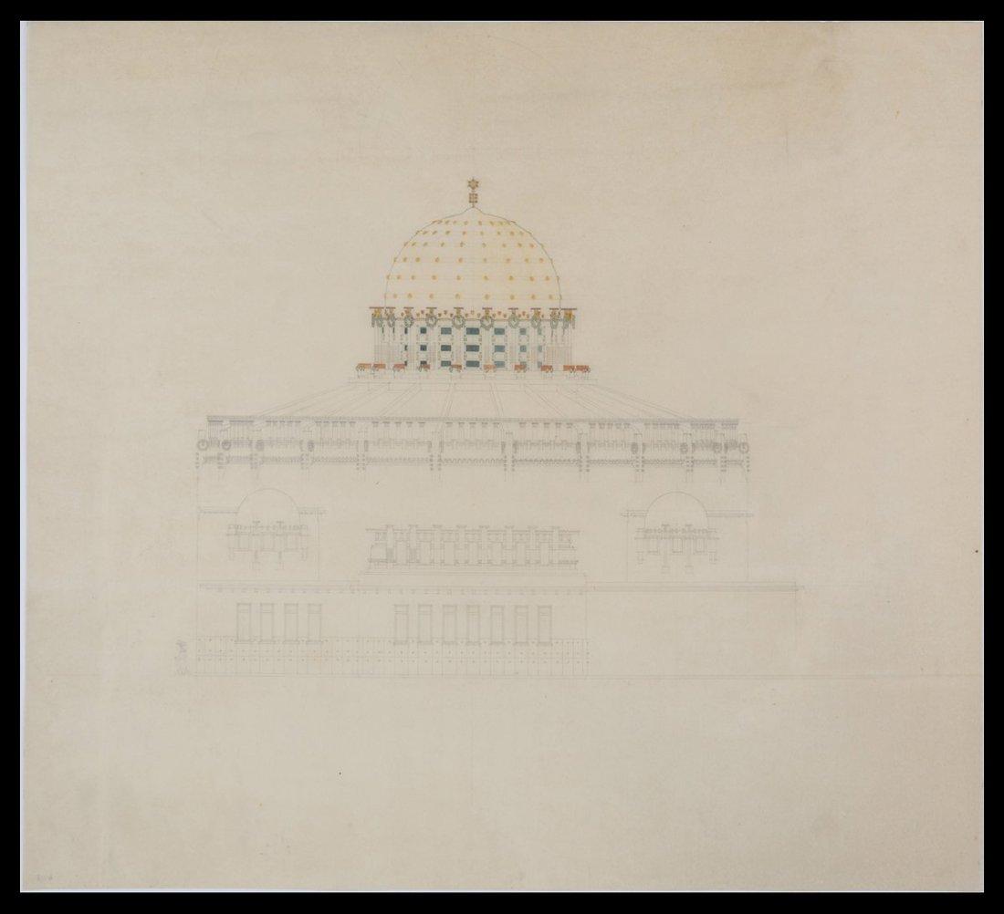 Design for a domed synagogue, Trieste. ca. 1903.