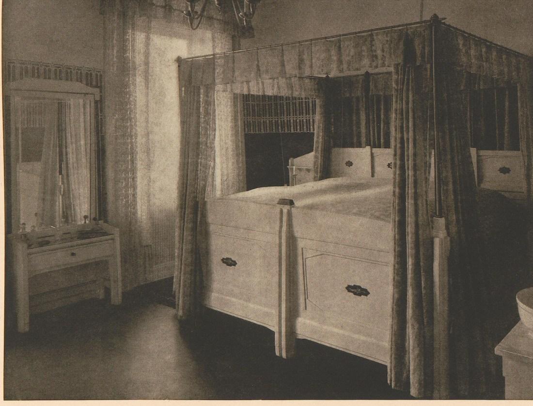 "innend""Sleeping room with satin, ebony and iris beads."""