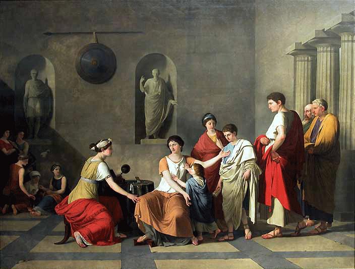 """""""Cornelia, madre dei Gracchi."""" 1795."""