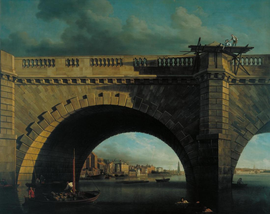 """An Arch of Westminster Bridge."" ca. 1750."