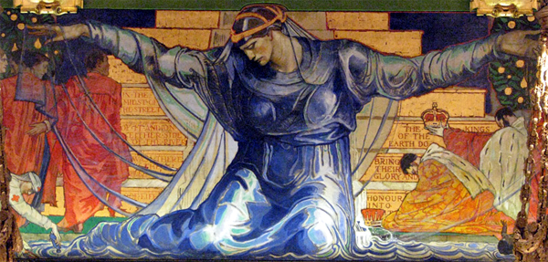 """""""Unity."""" Mural located in the Pennsylvania State Capitol. ca. 1902."""