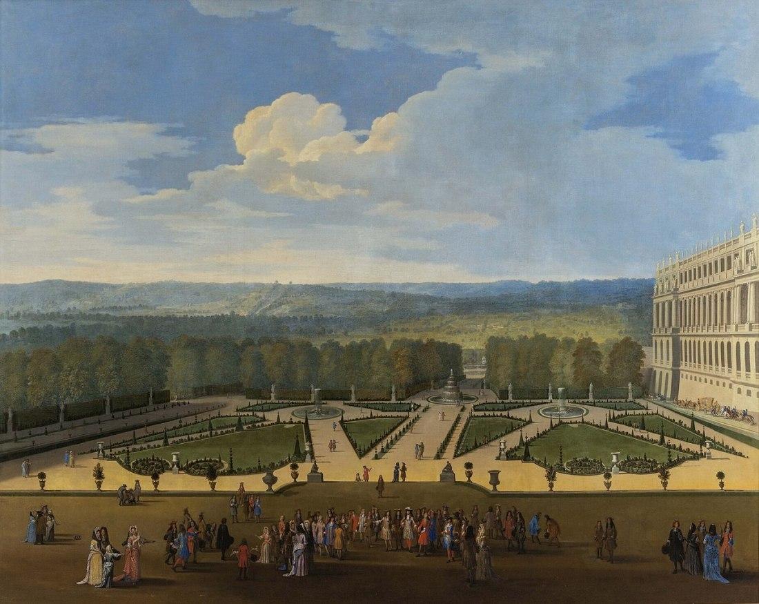 """""""Promenade de Louis XIV en vue du Parterre du Nord."""" 1688."""