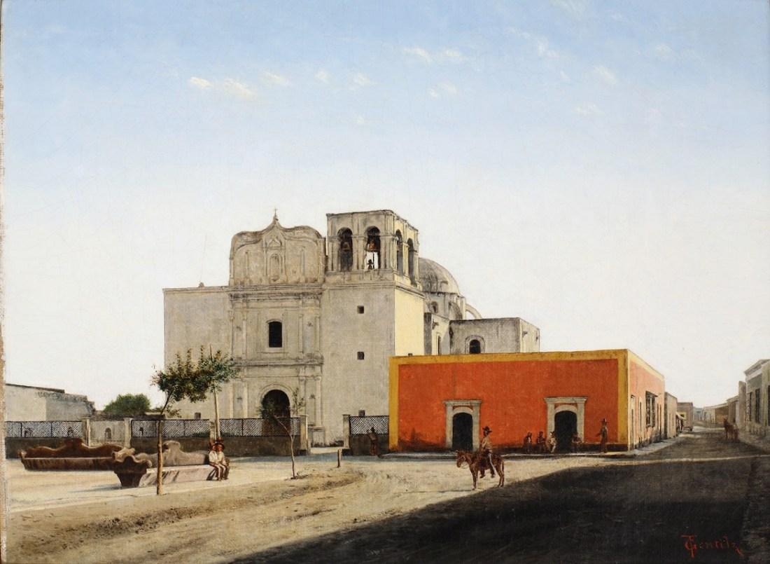 """Mission at Monclova, Mexico."" 19th c."