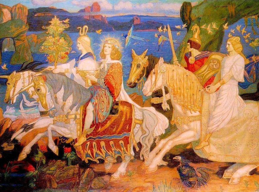 """""""The Riders of the Sidhe."""" 1911."""