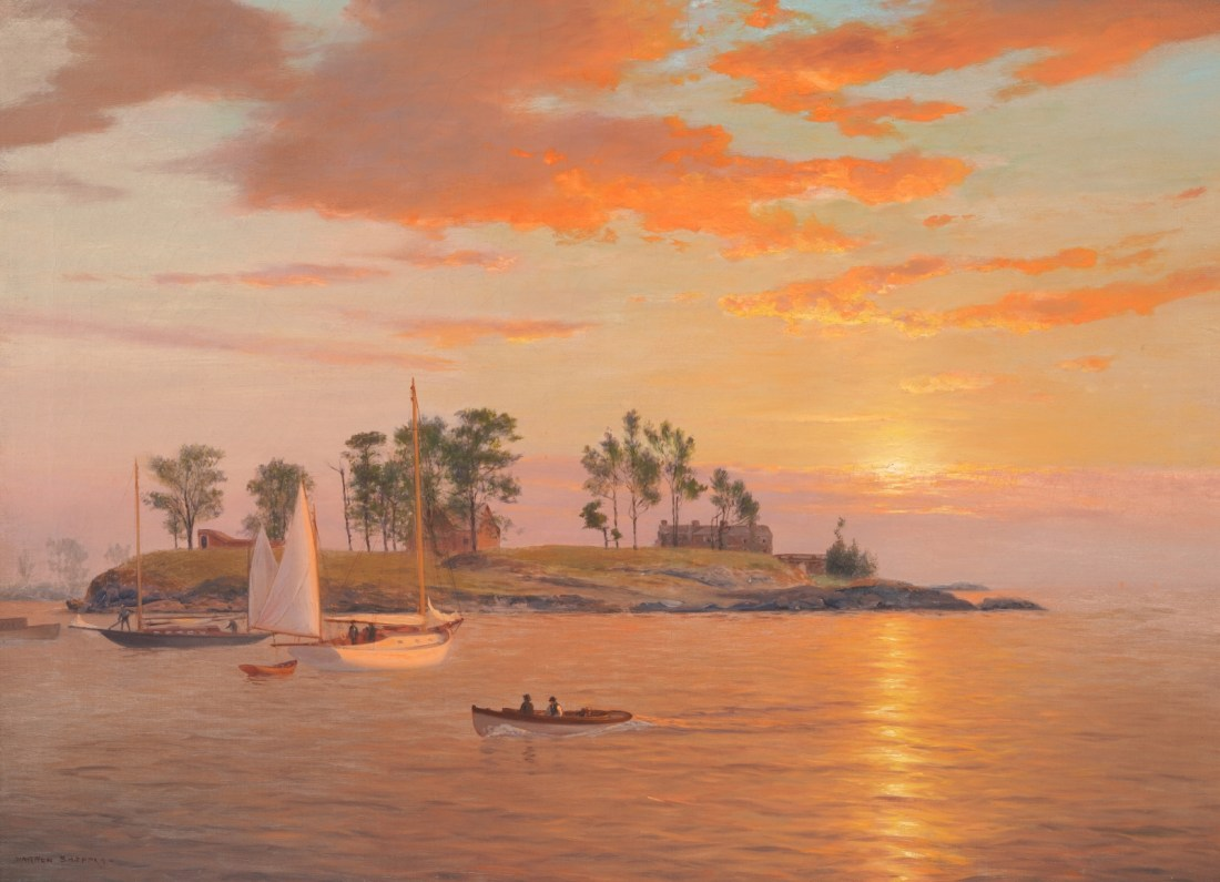 Luminous Seascape with Yachts. No date.
