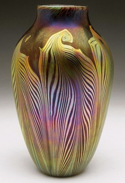 Iridescent Glass Vase.