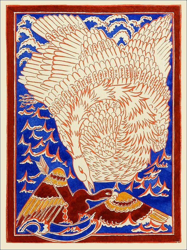 "Illustration from  ""Conte de tsar Saltan et de son fils."" 1921."