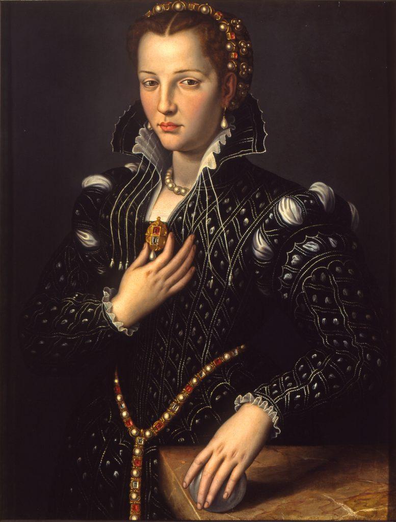 Portrait of Lucrezia de' Medici. 1560. Attributed to Allori.