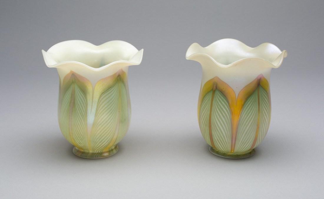 Pair of lampshades. 1910-20.