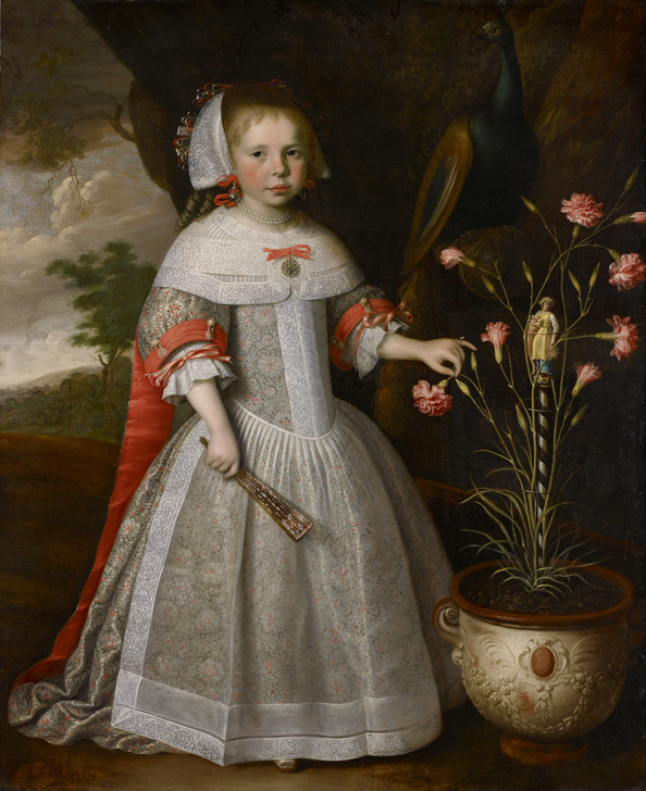 """""""A Four-year-old Girl with a Pot of Carnations."""" 1663."""