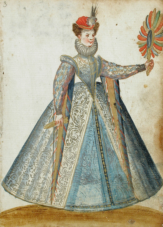 Woman with hat and sword. Image #3.