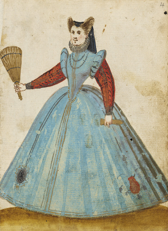 Woman with dress with red sleeves. Image #4.