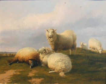 """""""Sheep Resting on a Hill."""" 1868."""