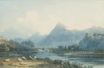 """Llanberis Lake, North Wales."" No date."