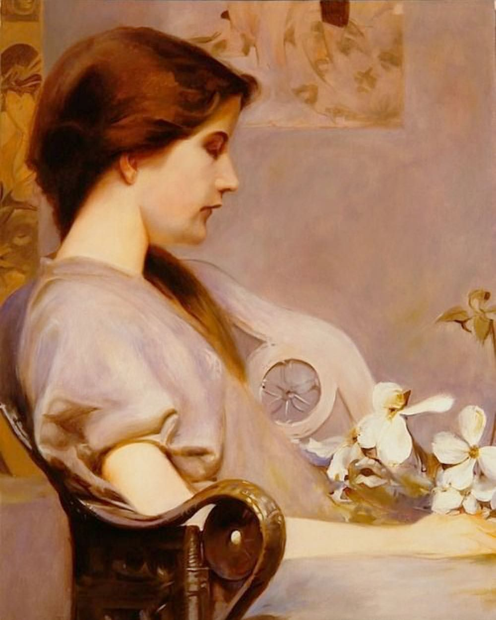 """""""Young Woman with Dogwood."""" 1891."""
