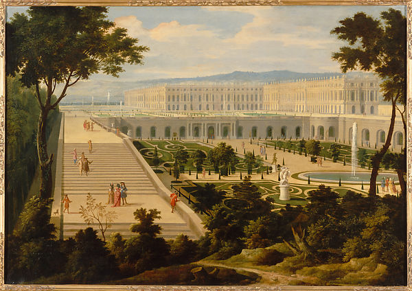 View of the Château de Versailles and the Orangerie