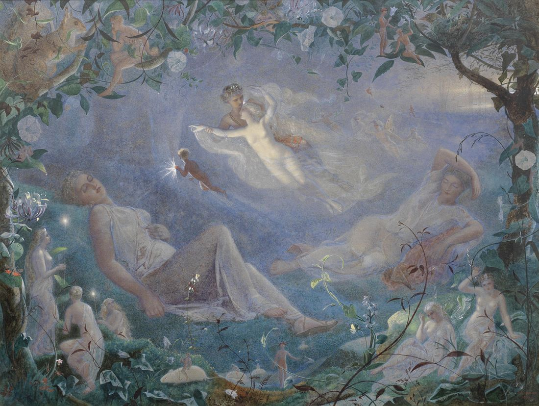 "Scene from ""A Midsummer Night's Dream."" 1873. Watercolor."