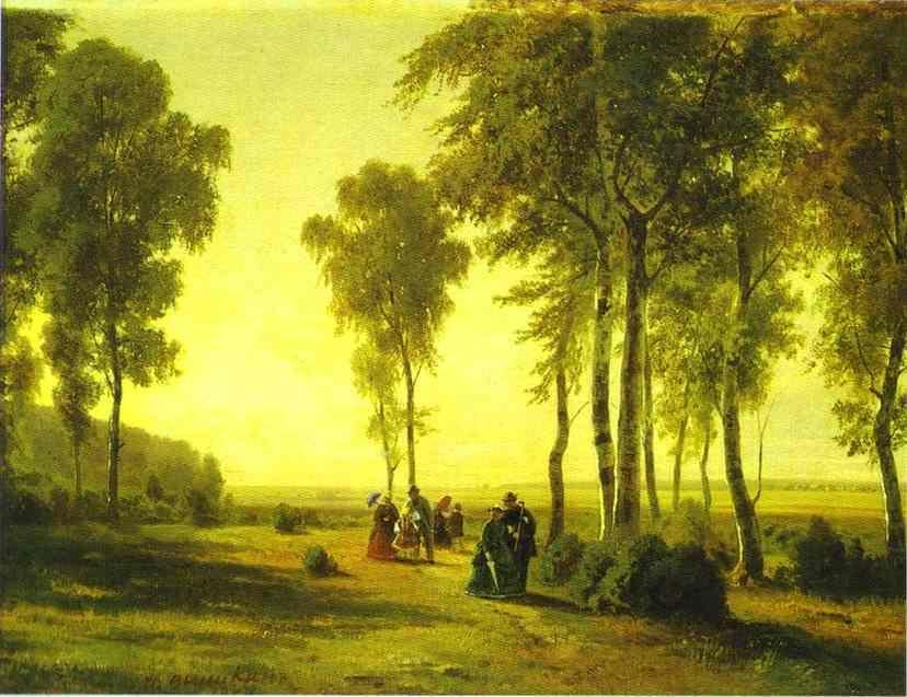 """""""Promenading in the Forest."""" 1869."""