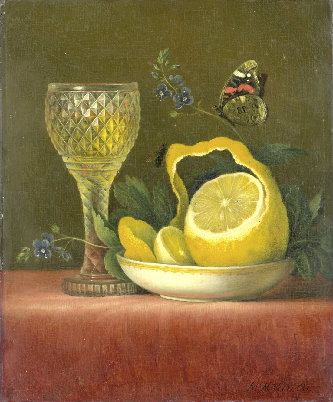 """""""Still Life with Lemon and Cut Glass."""" 1823-26."""