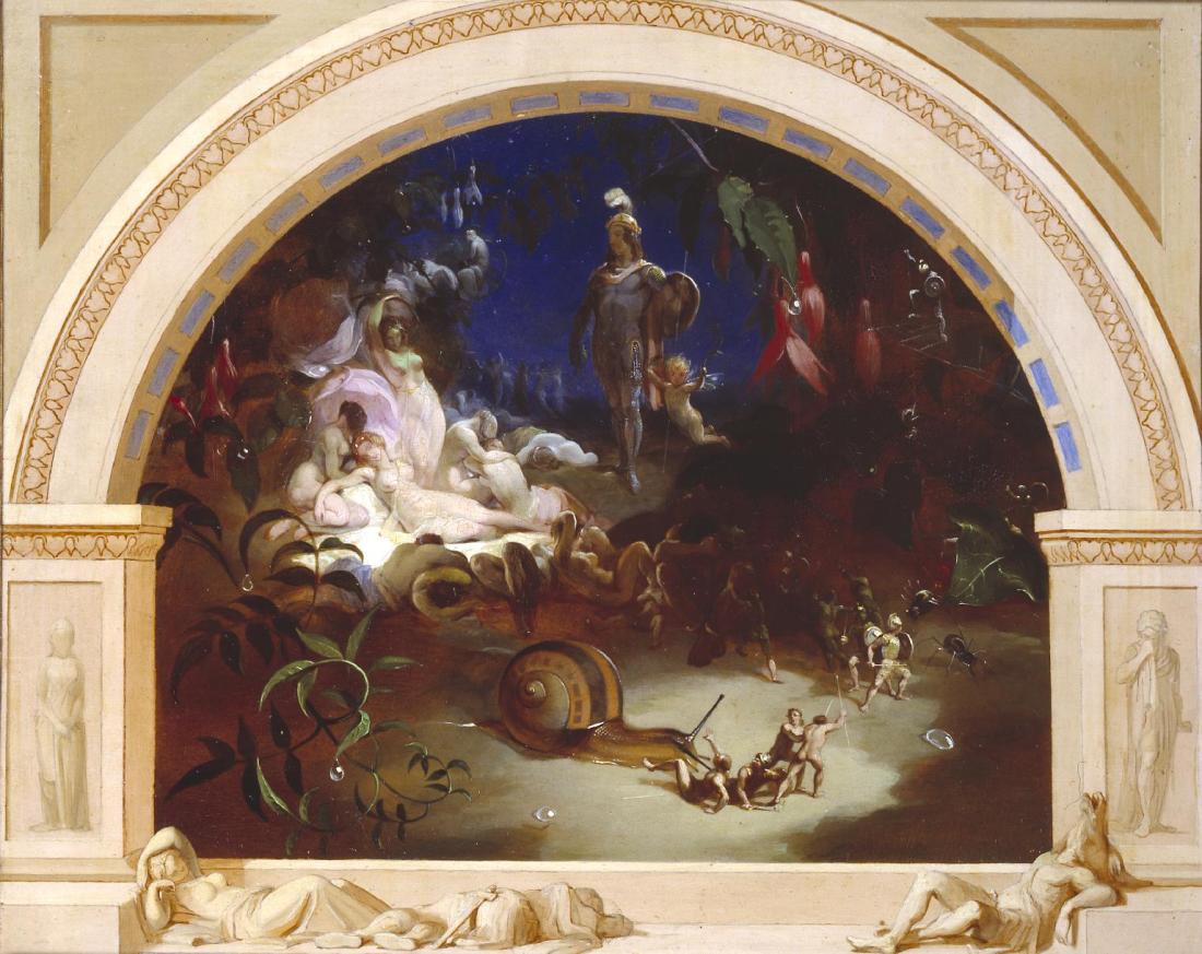 The Midsummer Night's Fairies exhibited 1847 by Robert Huskisson ?1820-1861