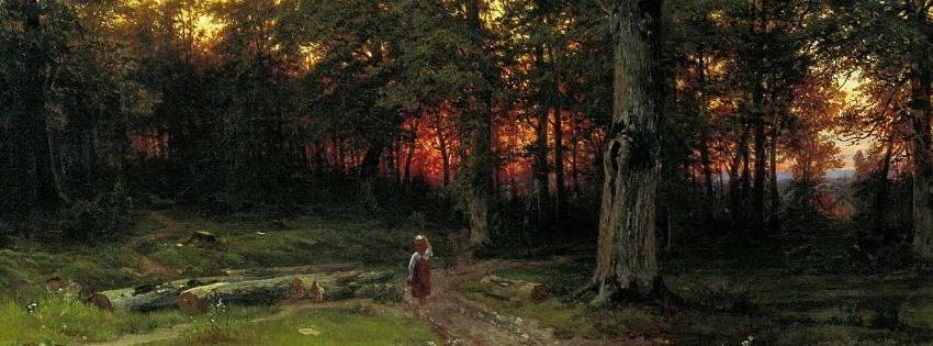Wood-in-the-Evening-1869-Ivan-Shishkin-FB
