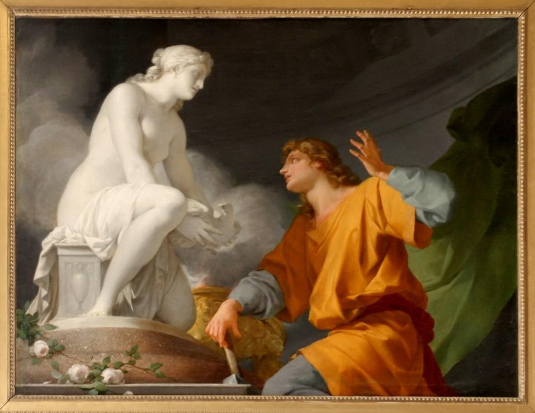 """Pygmalion priant Vénus d'animer sa statue."" 1786."