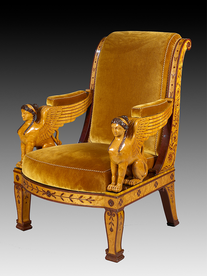 One of a set of four armchairs.