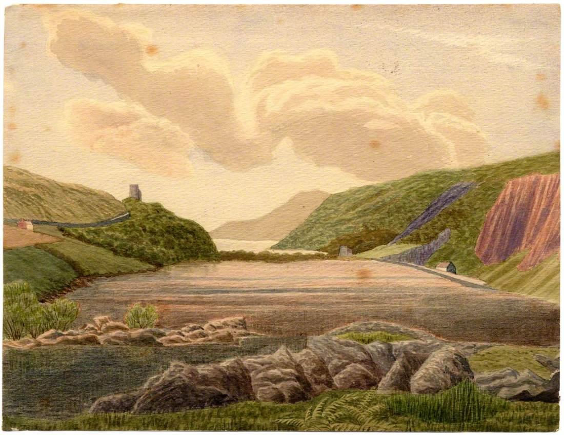 """""""Llyn Peris and Llyn Paddarn, Snowdonia."""" 1883."""
