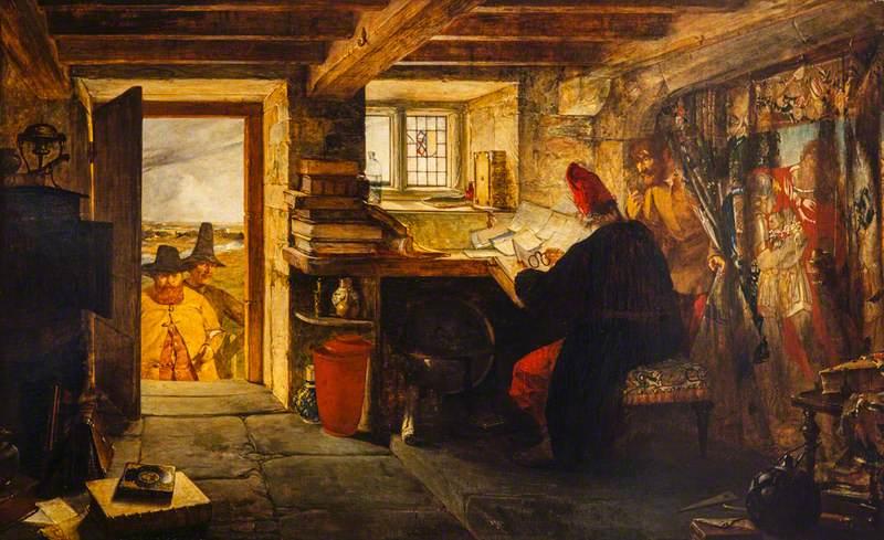 """Hudibras and Ralph Visiting the Astrologer (from Butler's 'Hudibras')."" 1856."