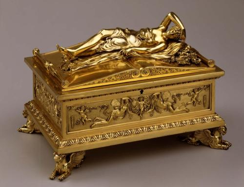 Casket with figure of Morpheus. ca. 1793-98. French. Cast, chased, and