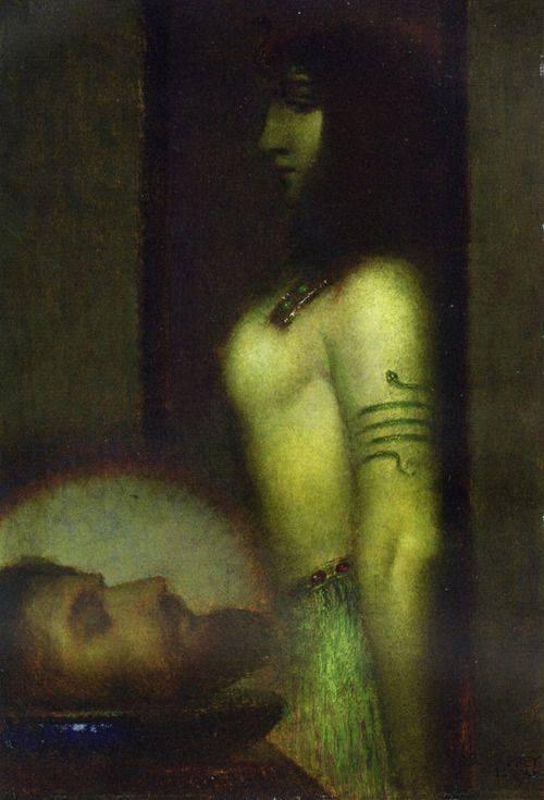 """""""Salomé with the Head of St John the Baptist."""" 1910."""