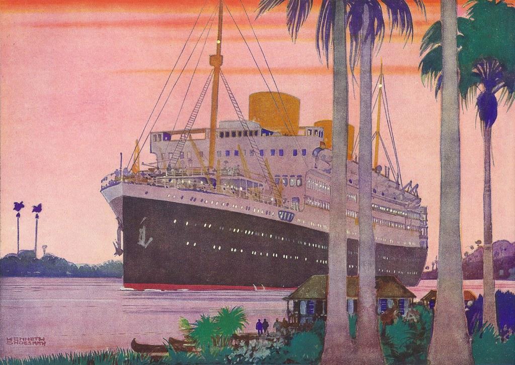 Royal Mail Lines calendar illustration. ca. 1935.