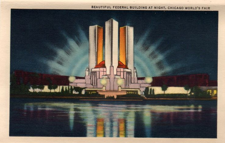 """""""Beautiful Federal Building, Chicago World's Fair."""