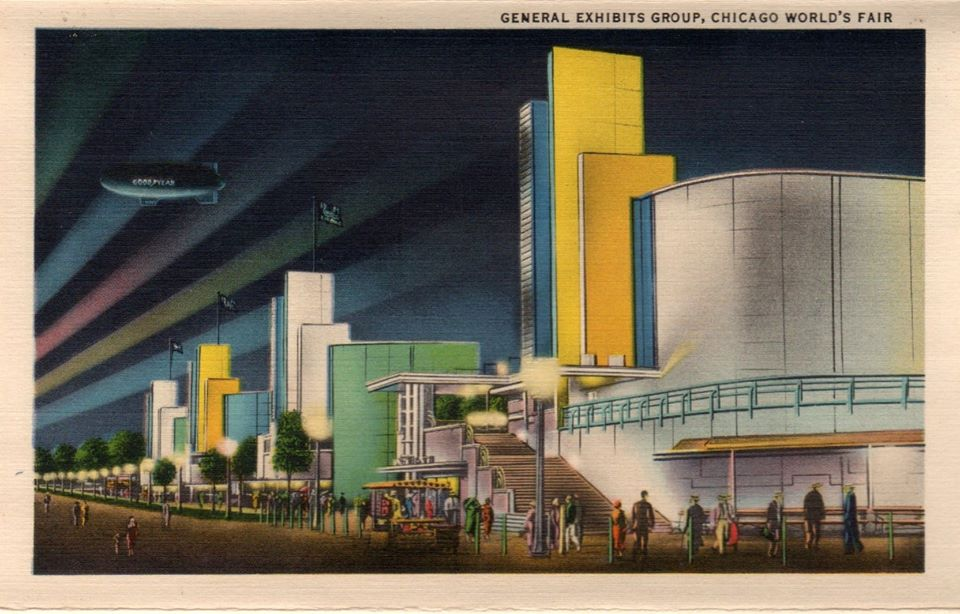 """""""General Exhibits Group, Chicago World's Fair.""""ca. 1933-34."""