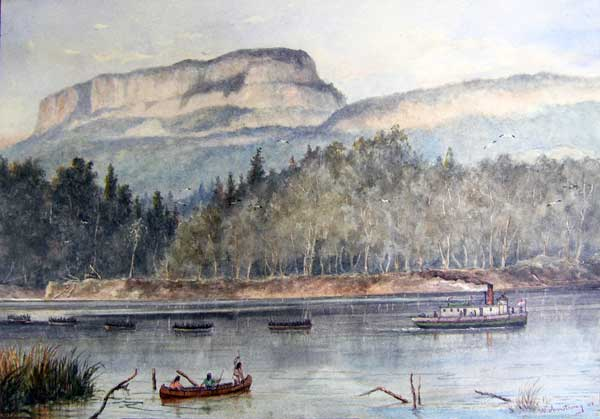 """""""The Wolseley Expedition, Kaministiquia River, 1870."""""""