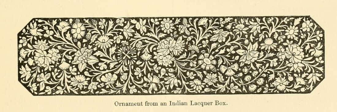"""Ornament from an Indian Lacquer Box."" Page 15."