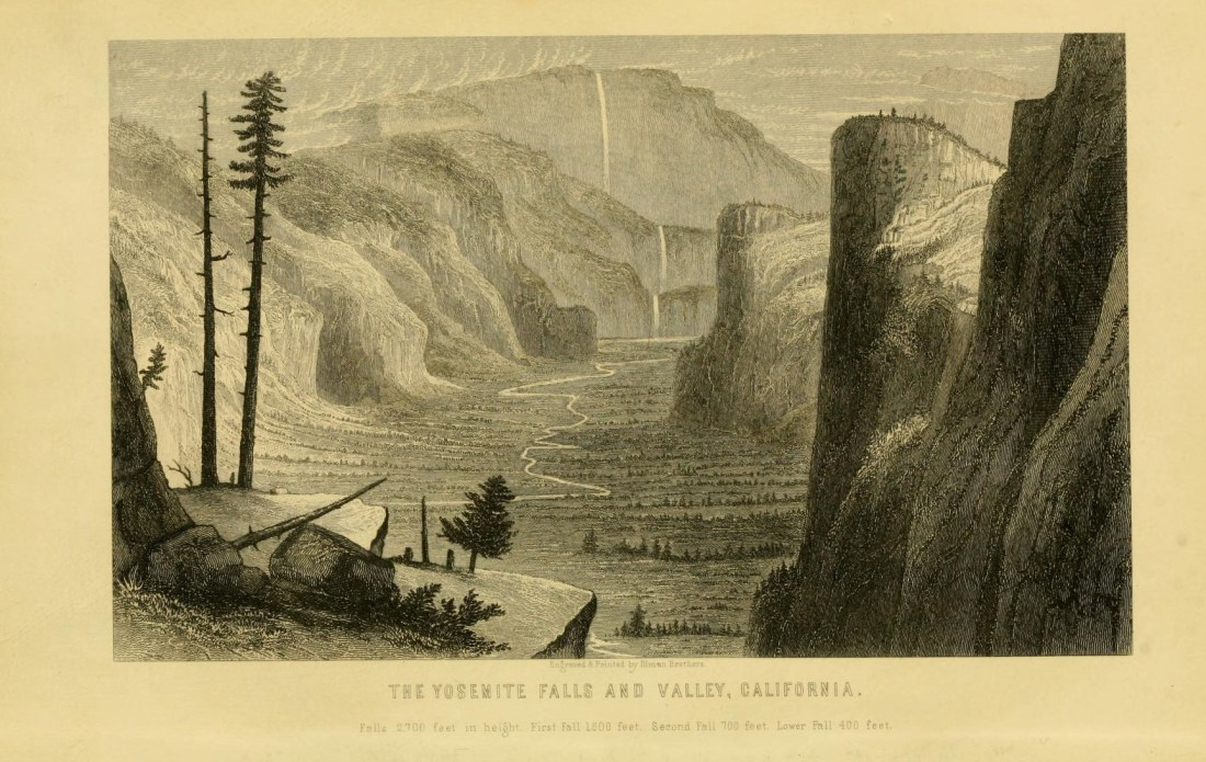 """""""The Yosemite Falls and Valley, California."""" Page 10."""