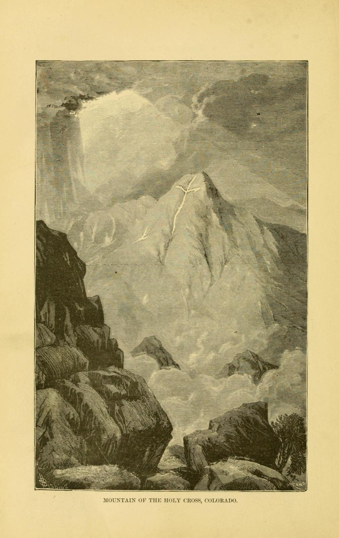 """""""Mountain of the Holy Cross, Colorado."""" Page 126."""