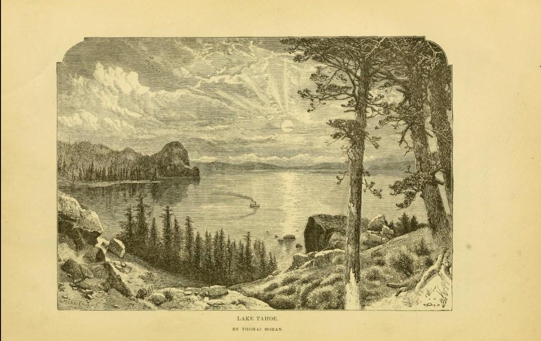 """""""Lake Tahoe."""" Thomas Moran, artist. Page 212."""