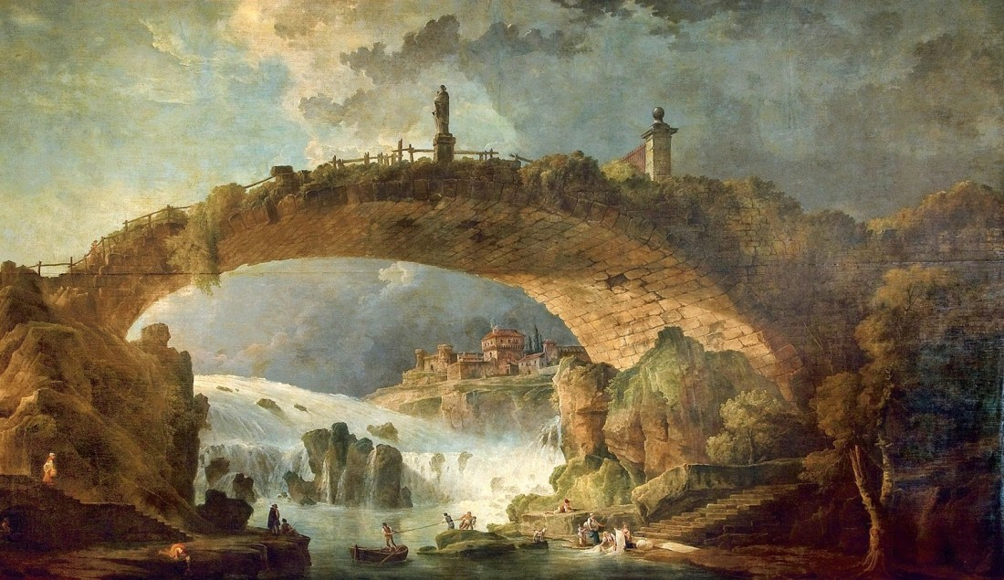 """Le Pont Sur Le Torrent."" 1780's."