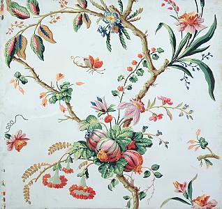 """Blumentapete"" floral design. 18th c."