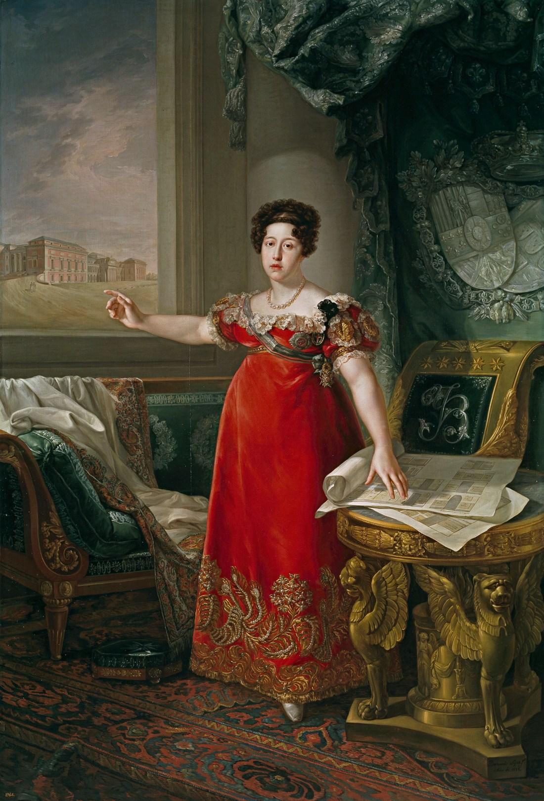Maria_Isabel_of_Portugal_in_front_of_the_Prado_in_1829_by_Bernardo_López_y_piquer