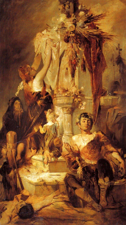 """""""Sacrificial Scene."""" 1880. Oil on canvas."""