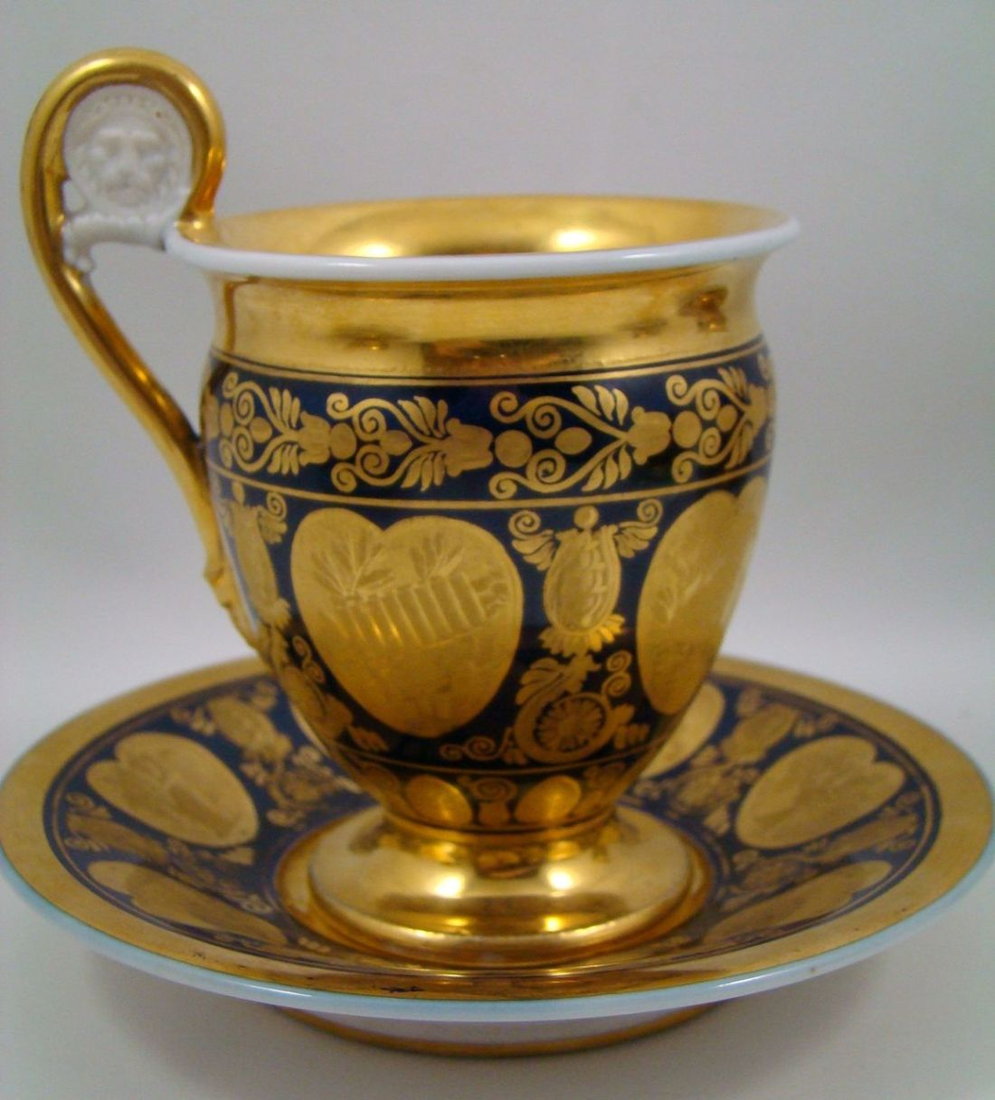 Cup and saucer, part of a coffee service. 1804.