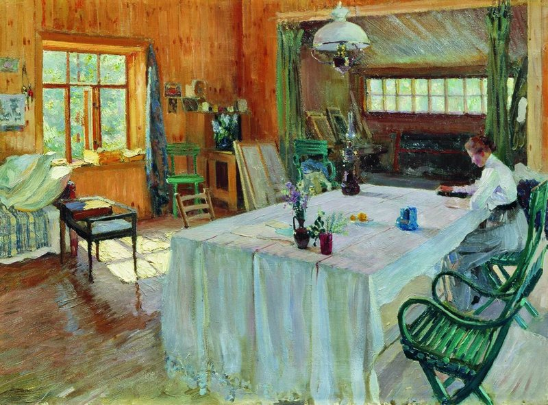 """""""At Konstantin Korovin's Place."""" Before 1938."""