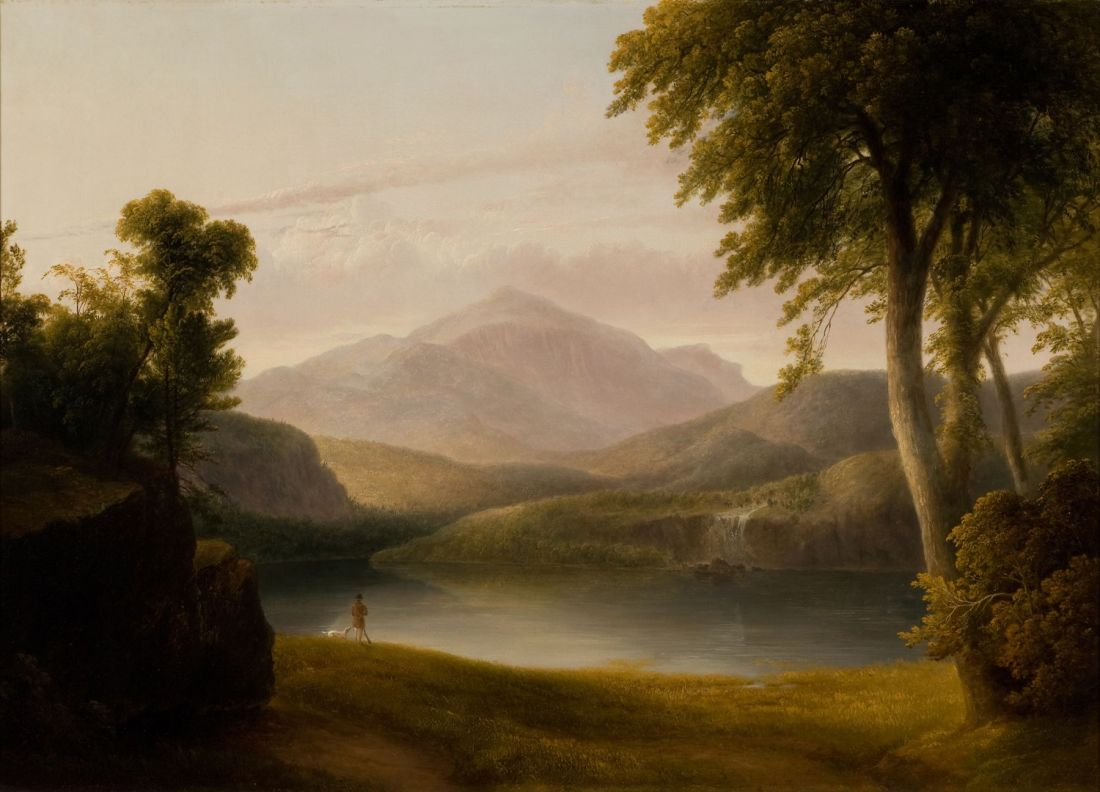 """""""In the Catskills."""" ca. 1835. Oil on canvas."""