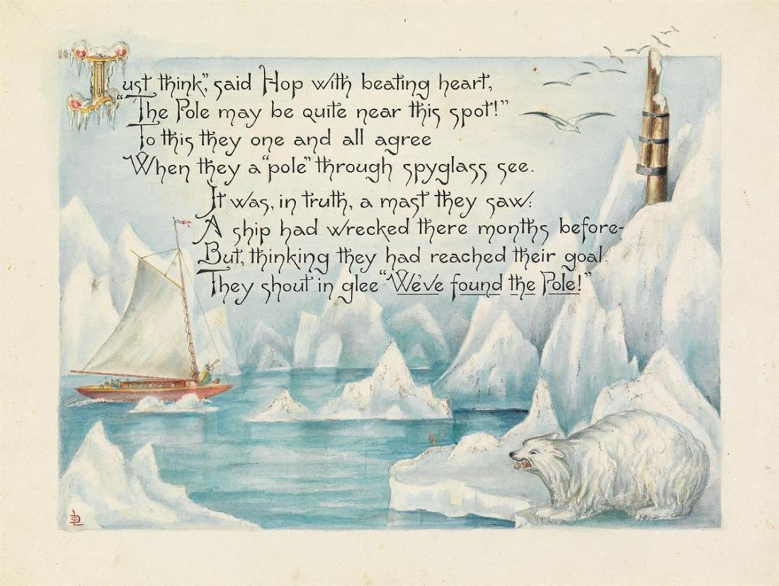 """""""North Pole Expedition with poem and polar bear."""