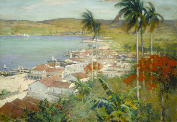 """Havana Harbor."" 1902. Oil on canvas."