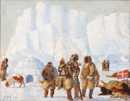 """""""A Study for a composition depicting participants in an expedition to Greenland."""""""